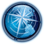 8781209 - vector abstract composition with globe and wind-rose